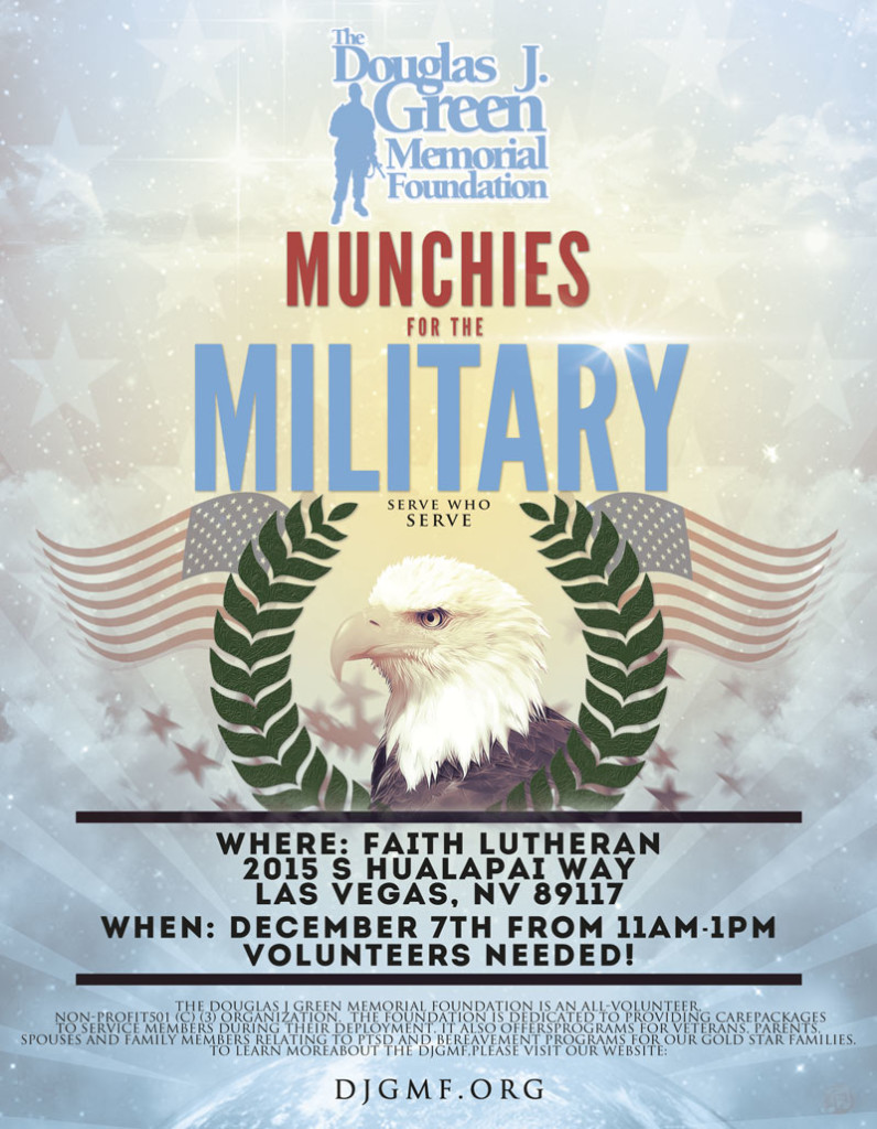 Munchies for the Military Flyer