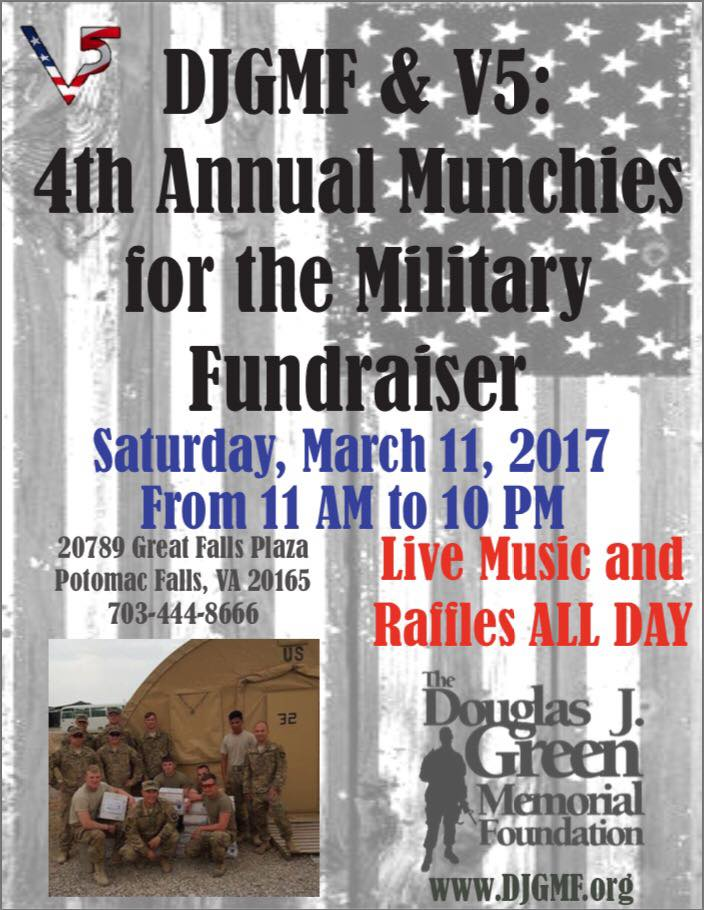 DJGMF 4th Annual Munchies for the Military Fundraiser